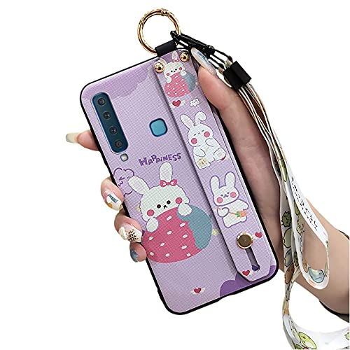 Protective Lulumi Phone Case Compatible with Samsung Galaxy A9 2018 A9s A920 SM-A920F, Soft cover Cartoon Phone Holder Silicone Designer for Woman Holder TPU, Purple Rabbit