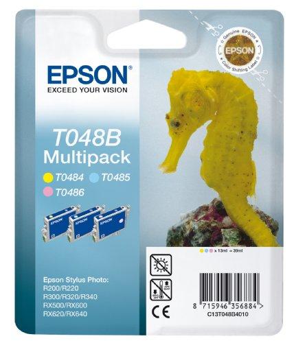 Epson T048B Tintenpatrone Seepferd, Multipack, 3-farbig