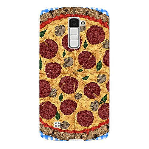DISAGU SF de SDI de 4560_ 899# zub- cc6448Diseño Carcasa para LG K10–Diseño Pizza Azul cuadrícula