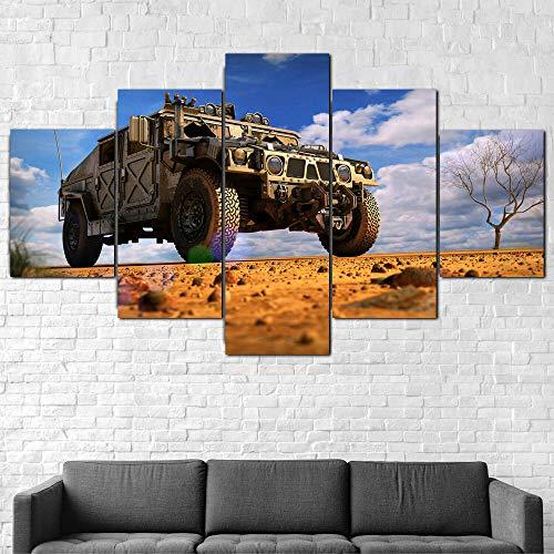 Quadro Moderno Veicolo Militare Stampa su Tela - Quadro x poltrone Salotto Cucina mobili Ufficio casa - Fotografica Formato XXL