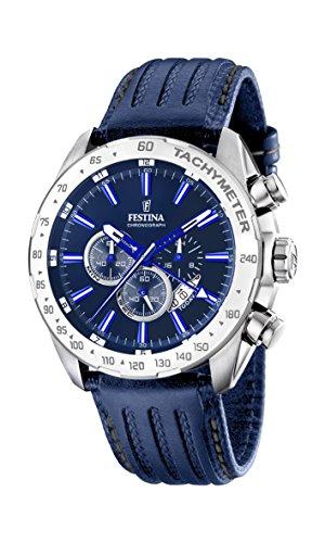 Festina Herren Analog Quarz Uhr mit Leder Armband F16489/B