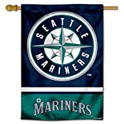 "28"" x 40"" in with 3 Inch Top Pole Sleeve for hanging from your Flagpole or Banner Pole (Pole Accessories Not Included) Made of Double Sided 2-Ply 100% Polyester with Sewn-In Liner, Double Stitched Perimeter Sewing, Imported Screen Printed Team Logos ..."