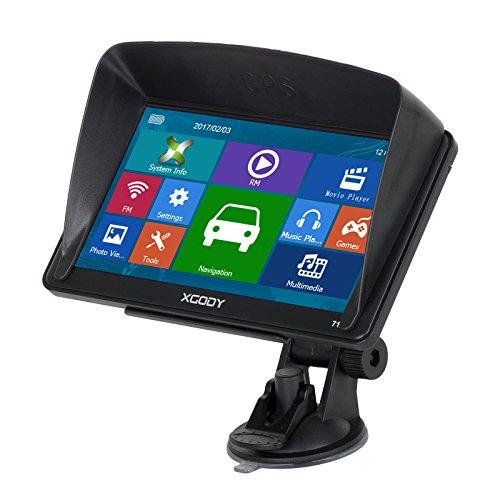Xgody 712 - Sistema de Navegación GPS de 7 Pulgadas con Pantalla Táctil capacitiva de 8 GB ROM mapas de por Vida actualizaciones de Dirección