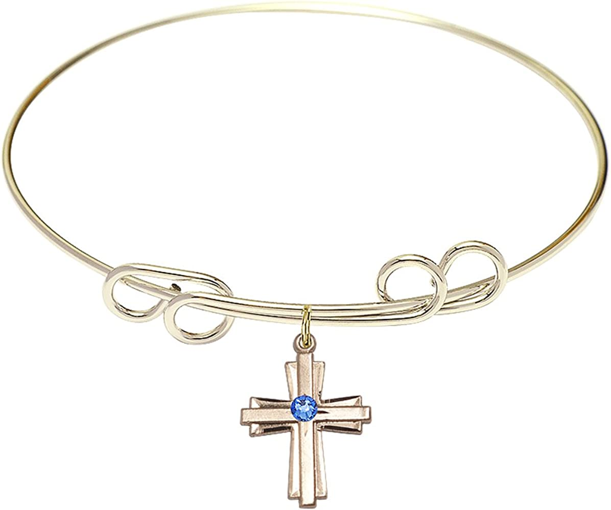 DiamondJewelryNY Double Loop Super sale Bangle Bracelet Charm. Fixed price for sale Cross with a