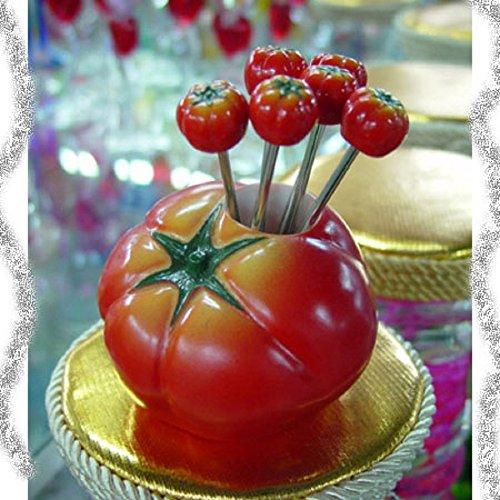 フォーク セット フルーツフォークセット ケーキフォーク フルーツピック トマト とまと おしゃれ 可愛い 形 果物フォーク