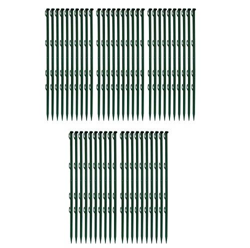 50 Stück Ellofence Weidezaunpfähle grün aus Plastik, Gesamthöhe 72 cm (Packung à 50 Stück)