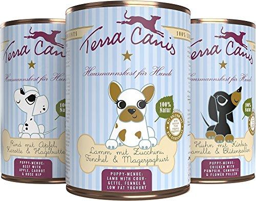Terra Canis Welpe 6 x 400g Testpaket Hundefutter für Welpen Hausmannskost für Hundewelpen Größe 6 x 400g