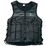 Hyperwear Hyper Vest FIT Adjustable Weighted Vest Women (5 lbs M) 5 lb or 8 lbs Running Walking Workouts Metallic Black Reflective Thin 1/2 lb Weights Designed Comfortable Female Fit (5 lbs Medium)