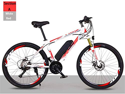 Electric Bike Electric Mountain Bike Adult Off-Road Electric Bicycle, 26'' Electric Mountain Bike with Removable Lithium-Ion Battery 21/27 Variable Speed Lithium Battery Beach Cruiser for Adults Mount