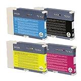 Lote de 4 cartuchos de tinta Epson T6161 T6162 T6164 T6163 (C13T616100 C13T616200 C13T616300 C13T616400) para impresoras Epson B300 B310 B500DN B510DN - (negro, cian, magenta y amarillo) capacidad normal.