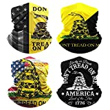 Don't Tread On Me Neck Gaiters Face Coverings for Outdoor Scarf Cool Masks Gators Windproof Balaclava for Women Men Breathable Bandanas Washable (4 Pack)