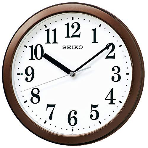 セイコークロック 掛時計 電波 アナログ コンパクトサイズ 茶メタリック 直径28.0x4.6cm BC416B
