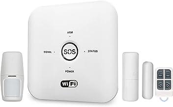 Tomshin Tuya Smart WIFI GSM Sistema de alarme de segurança doméstica PIR com controle remoto compatível com Alexa Google A...