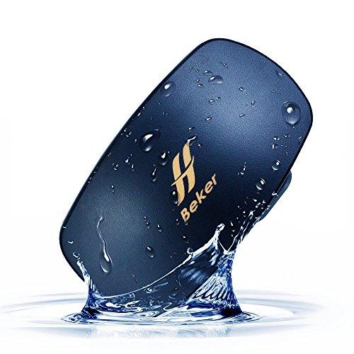 BEKER Unterwasser MP3-Player - 8GB - 8h Spielzeit - kabellos - wasserdicht - IPX8 - Keine Ohrstöpsel erforderlich, blau
