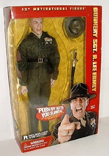 Gunnery Sgt. R. Lee Ermey Full Metal Jacket Figure by side show toy
