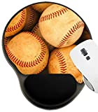 MSD Mousepad Wrist Rest Protected Mouse Pads, Mat with Wrist Support, A Large Bucket of Baseballs Image ID 2993052