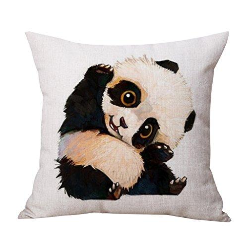 Yujiao Mao Panda Tier Druck Leinen Quadrat Kissenbezug Sofa Kissenhülle Home Dekor 45x45cm