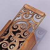 caremille custodia per cancelleria in legno retrò scatole scavate portapenne da tavolo organizer per portapenne tradizionale, astuccio per matite vegan, motivo a farfalla