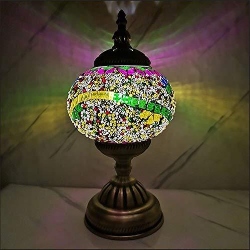 Liangsujiantd Flexo Led Escritorio, Lámpara de Mesa de Estilo mediterránea de Turquía Estudio Dormitorio de la lámpara de Mesa romántico del Estilo de decoración (Lampshade Color : A 6)