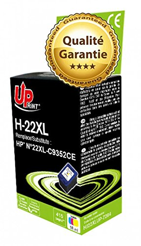 Cartucho de tinta HP n ° 22 de color para HP DESKJET F2120, F2140, F2180, F2185, F2187, F2200, F2210, F2212, F2235, F2240, F2250, F2275, DESKJET F2280 2 unidades, HP DESKJET F2290, F300, DESKJET SERIES F325, DESKJET F335, F340, DESKJET F370, DESKJET F375, DESKJET F380 ALL IN ONE F4100, DESKJET SERIES, DESKJET F4140, DESKJET F4180 2 unidades, DESKJET F4180 2 unidades, diseño con texto