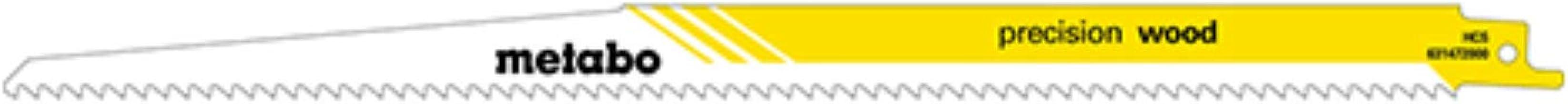 Metabo 631122000 631122000-Blister de 2 hojas de sierra de sable para madera plasticos, Triscado, rectificado HCS 300 x 1 mm, Amarilla, 0