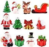 Mini Figuras de Navidad Adorno de Paisaje Navideño Miniatura de Resina Linda para Vacaciones de Invierno Jardín , Ideal para Navidad Decoración Micro Paisaje