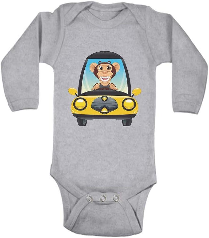Funny Car Girls Baby Long-Sleeve Bodysuit