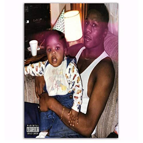 Wsxyhn Dababy Kirk Cover Poster Neues Album 2019 Rap Musik Star Malerei Kunst Poster Druck Leinwand Home Decor Wandbild-50X70Cm No Frame