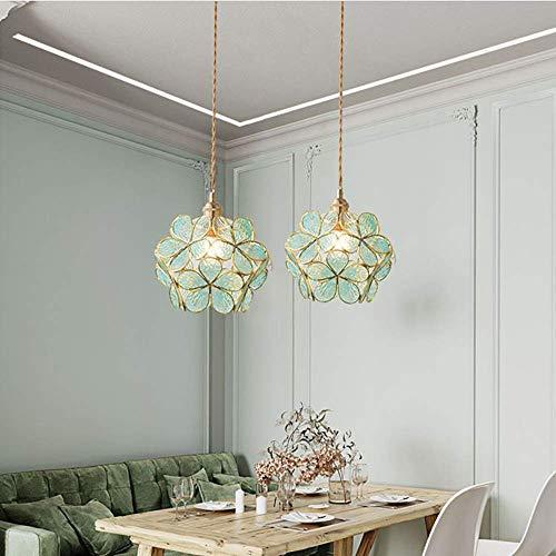 Lámpara de techo de cristal para balcón o dormitorio, restaurante, mesita de...