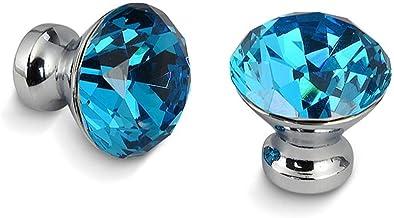 Jinchao-bar kast handgrepen, 30mm Diamond Shape Design Crystal Glass Knoppen, kast trekt, keuken kast handgrepen, lade kno...