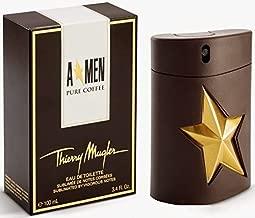 Thierry Mugler Men Pure Coffee Eau de Toilette Cologne Spray for Men, 3.4 Ounce