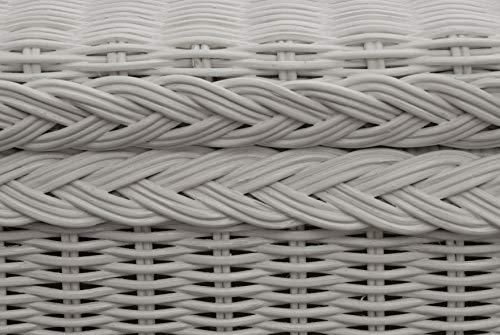 Spielzeugtruhe/Wäschetruhe aus Rattan in der Farbe grau groß - 7