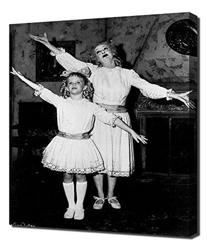 Pingoo Prints Davis, Bette (was geschah wirklich mit Baby Jane) 2,5cm Kunstdruck, Leinwand, Mehrfarbig, 60x 90x 5cm
