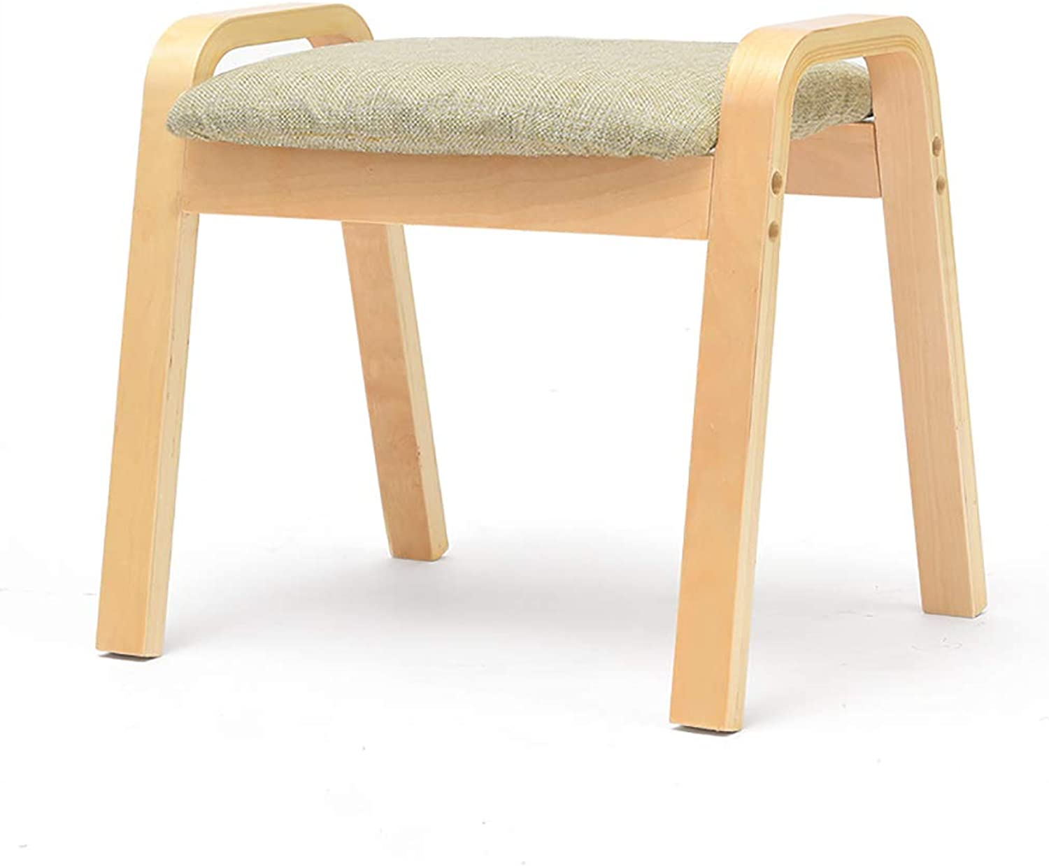 European Chair Change shoes Stool, Fashion Creative Coffee Table Low Stool Sofa Footstool Solid Wood Square Stool (color   H)