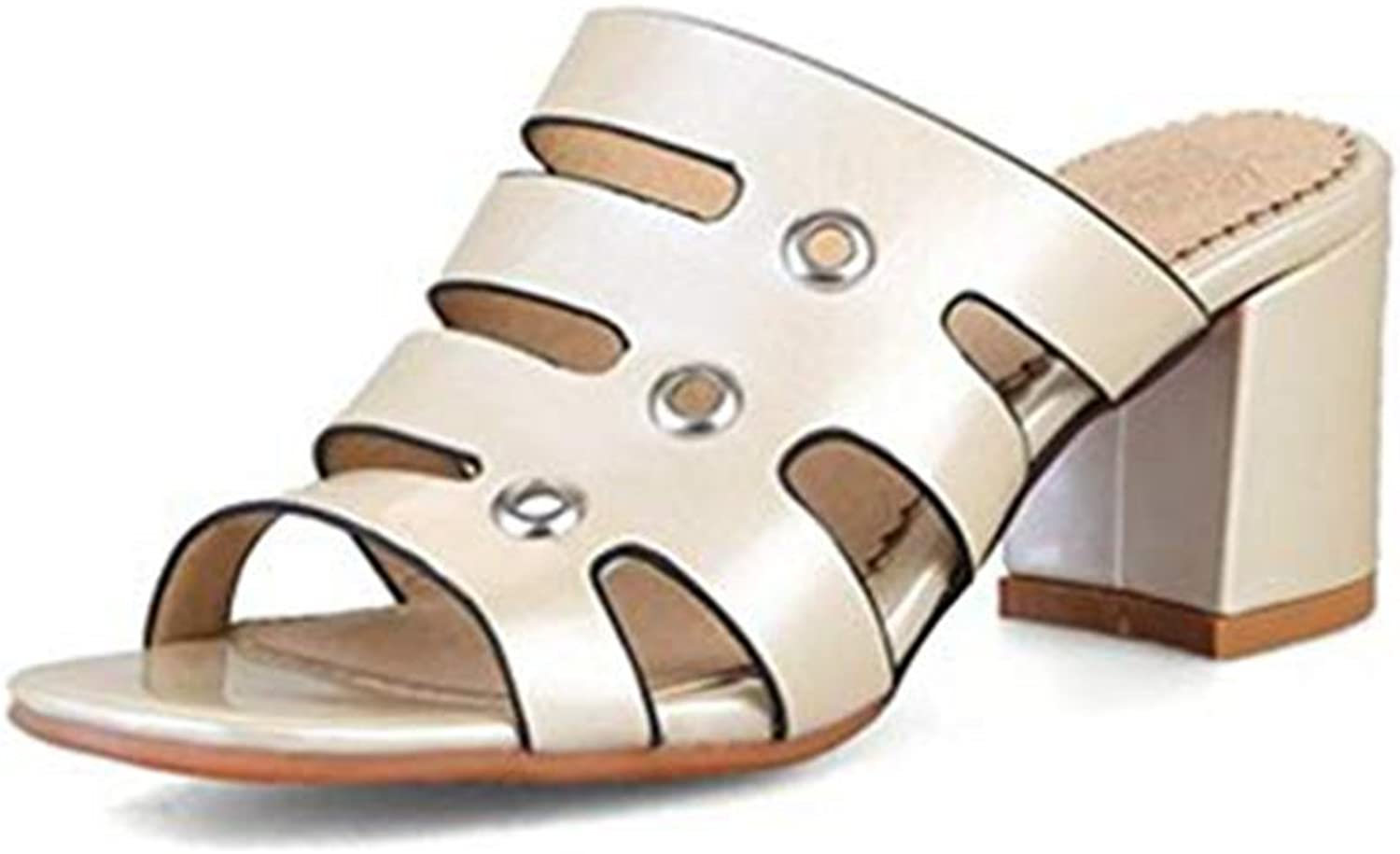 T-JULY Fashion Gladiator Sparkle Glitter Heels Hollow Out Sandals for Women Open Toe Chunky Heeled Dress Pumps shoes