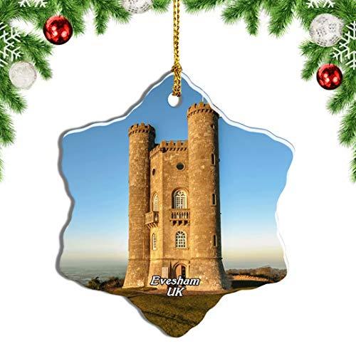 Weekino UK England Evesham Broadway Tower Christmas Ornament Travel Souvenir Tree Hanging Pendant