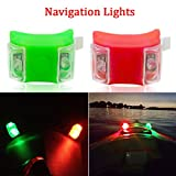 Botepon Marine Boat Bow Lights, Red...