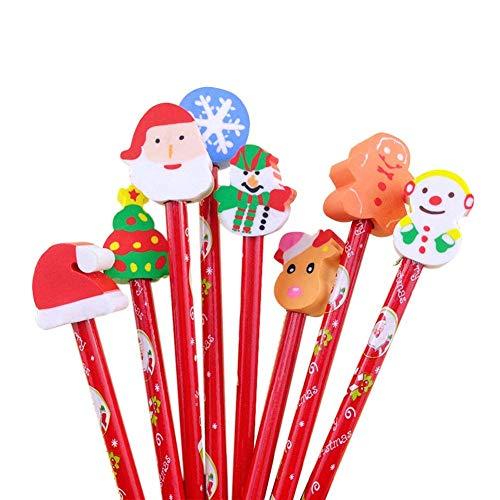 スノーキッズ 消しゴム付きクリスマス鉛筆 25本セット