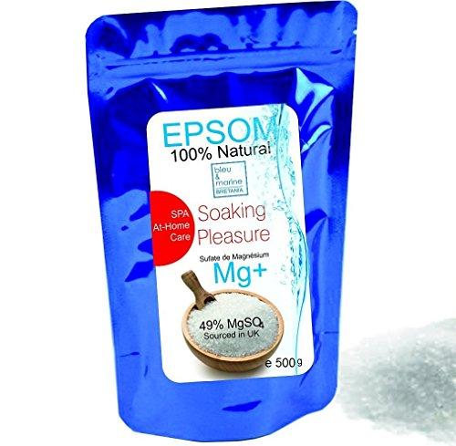 Sales Epsom Puras - Magnesio Natural 500 g  Eliminar las toxinas y metales pesados  Reducir el estres  Anti inflamación  Exfoliante Facial y Corporal 100% Natural  Artritis  Alivia las irritaciones  Sulfato de Magnesio Quimicamente Puro Grado Alimentar Multiusos