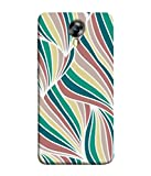 Printvisa Designer Back Cover for Micromax CanvasNitro4G E371 (Abstract Art Backdrop Curly Bright Colorful Beautiful Concept)