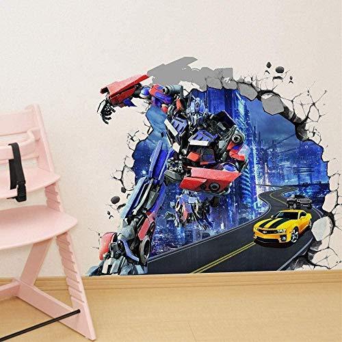 WARMBERL Wandtattoo Wandtattoo 3Pcs / 3D Stereo Wandaufkleber Optimus Prime Movie Star Cartoon Transformers Anime Charakter Wandaufkleber Tapete Kinderzimmer Dekoration Vinyl Aufkleber (40 * 60CM)