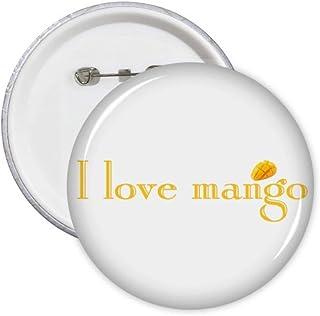 Lot de 5 badges I Love Fruit Yello Art Déco Cadeau Mode Badge Badge Emblème Accessoire Décoration
