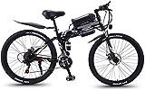 Alta velocidad 26 en bicicleta plegable eléctrico for adultos Montaña E-bici con motor de 350 W 21 Velocidades acero de alto carbono doble freno de disco de la ciudad de bicicletas for ir al trabajo,