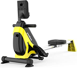 pooboo Magnetic/Water Rowing Machine Indoor Flodable Exercise Rower with Adjustable Resistance and LCD Monitor for Home Cardio and Strength Exercise