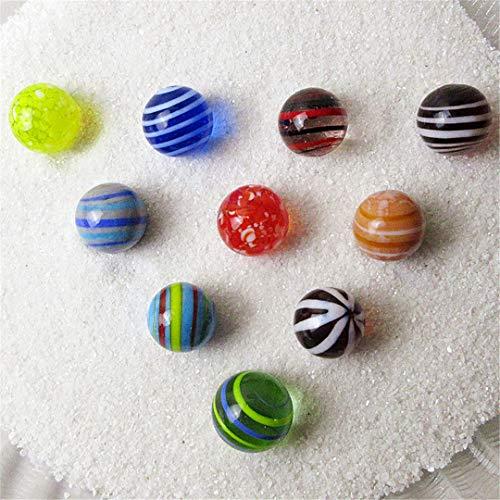 COOLISH 16Mm Glasmurmeln Bälle Charms Clear Pinball Home Decor Für Aquarium Vase Aquarium Kinder Geschenk 10PCS Yellow 16mm