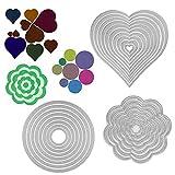 25 unidades troqueles scrapbooking de metal en forma flores círculos corazón troqueles de corte plantillas cutting dies tarjeta papel decoración manualidades