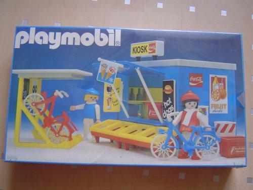 PLAYMOBIL 3418 - Kiosk mit Fahrradständer / Hot sog Stand