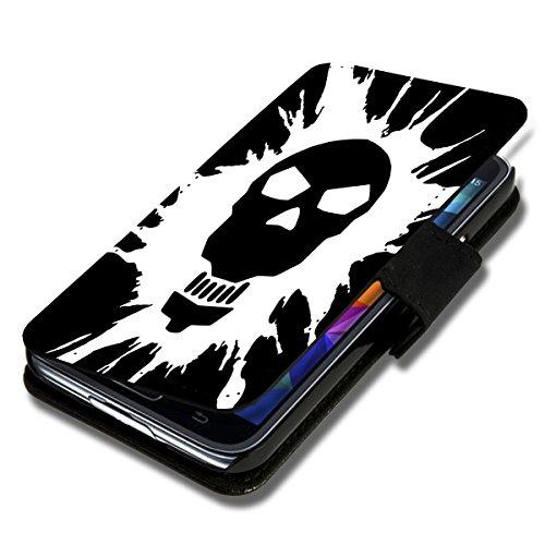 wicostar Book Style Flip Handy Tasche Hülle Schutz Hülle Schale Motiv Foto Etui für Huawei Y3 - Flip A51 Design5
