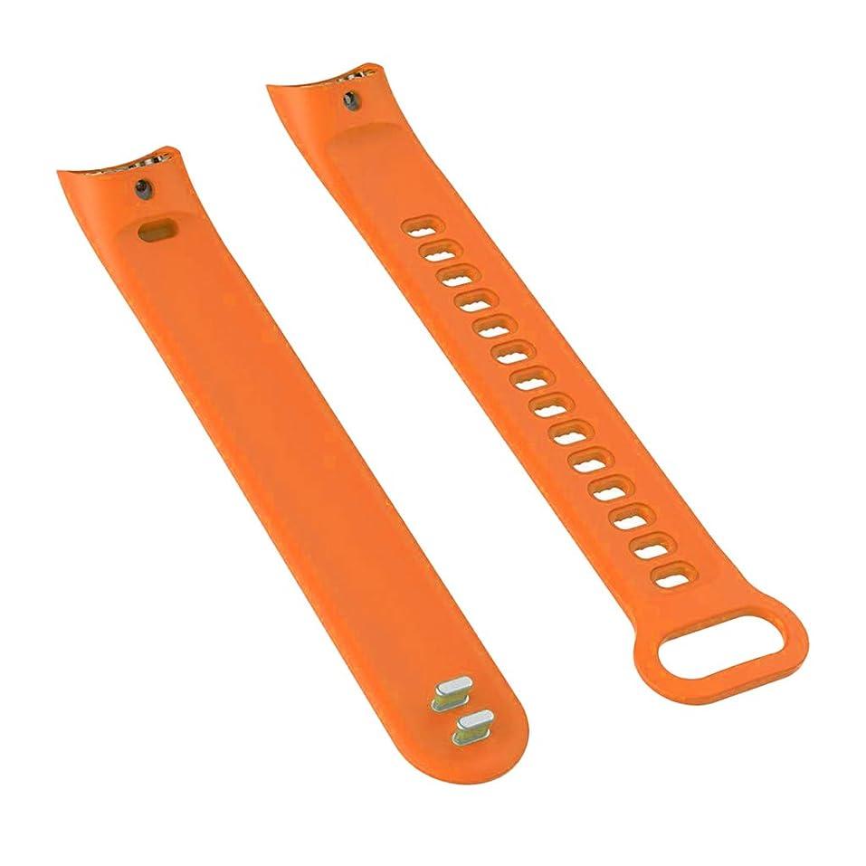 溝服を片付ける農夫Huawei Honor 3適用 時計バンド ブレスレット ストラップ ソフト TPU 交換用 - オレンジ