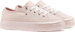 TOMMY HILFIGER Flatform Cotton Upper Trainers Women's Flatform Cotton Upper Trainers